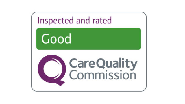 Inspected and rated Good by Care Quality Commission logo