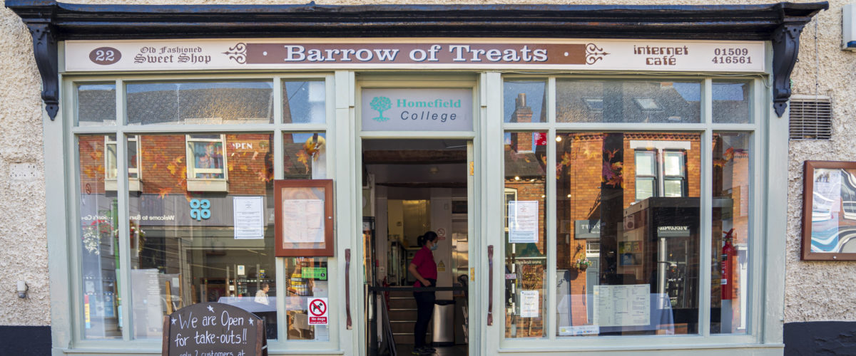 Barrow of Treats cafe shopfront