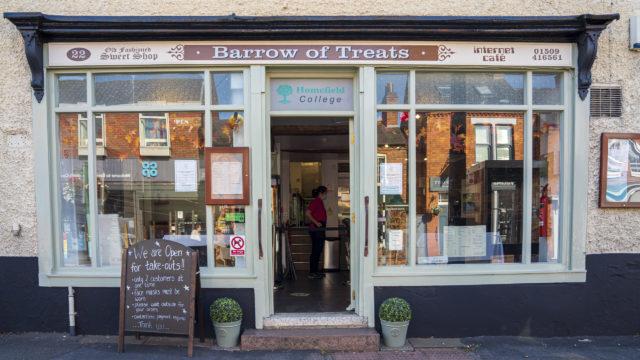 Barrow of Treats cafe shopfront