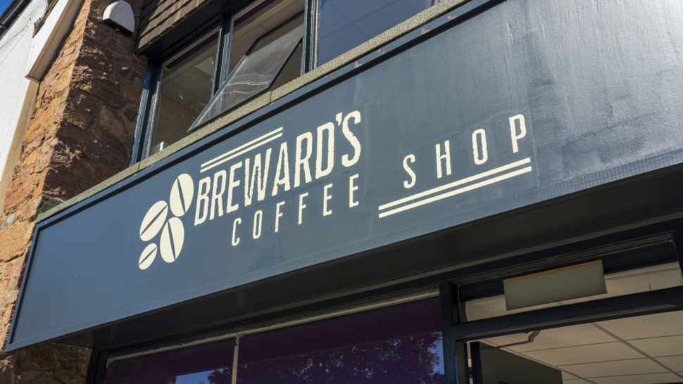 Front sign of Breward's Coffee Shop